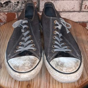 Grey Distressed Converse Low Tops